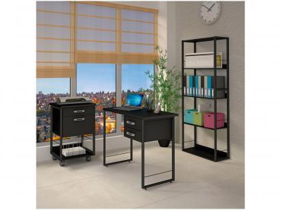 Conjunto de escritório com mesa Multiuso 2 Gavetas - + Gaveteiro com duas 2...