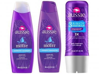 Kit Aussie 3 Minute Miracle Moist 236ml com - Moist Shampoo 400ml + Moist...