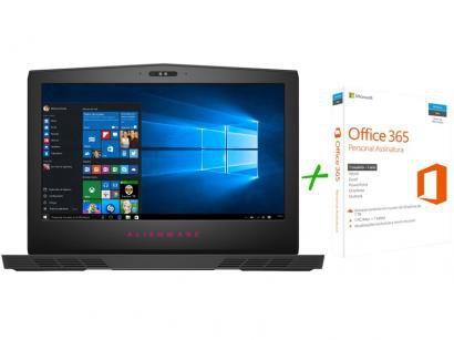 Notebook Gamer Dell Alienware 15 Intel Core i7 - 16GB 1TB SSD 256GB LED +...