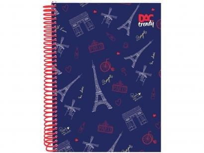 Caderno Espiral 10 Matérias DAC Capa Dura - Trendy Paris 200 Folhas