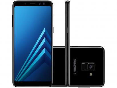Smartphone Samsung Galaxy A8 64GB Preto - Dual Chip 4G Câm. 16MP + Selfie 16MP...