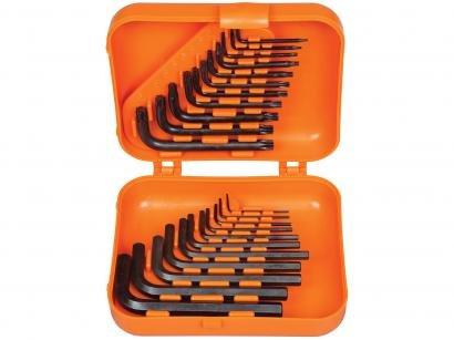 Jogo de Chave Hexagonal e Trafix 22 Peças - Tramontina PRO 44450222 com Estojo