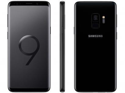 "Smartphone Samsung Galaxy S9 128GB Preto 4G - 4GB RAM Tela 5.8"" Câm. 12MP +..."