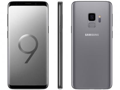 """Smartphone Samsung Galaxy S9 128GB Cinza 4G - 4GB RAM Tela 5.8"""" Câm. 12MP +..."""