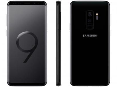"Smartphone Samsung Galaxy S9+ 128GB Preto 4G - 6GB RAM Tela 6.2"" Câm. Dupla +..."