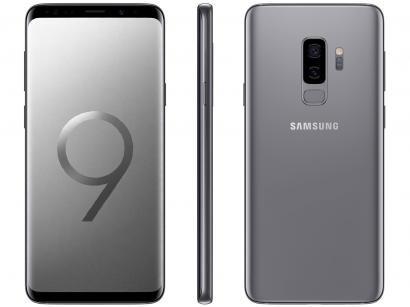 """Smartphone Samsung Galaxy S9+ 128GB Cinza 4G - 6GB RAM Tela 6,2"""" Câm. Dupla +..."""