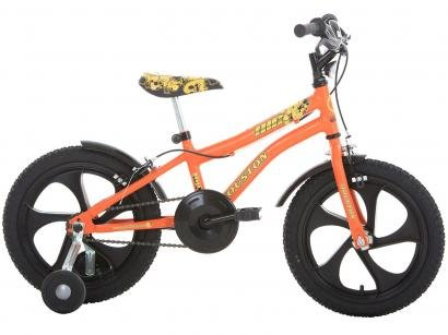 Bicicleta Infantil Aro 16 Houston Nic Laranja - com Rodinhas