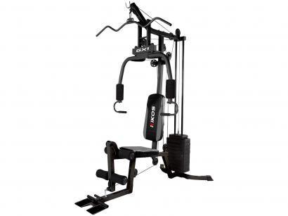 Estação/Aparelho de Musculação Kikos GX1 - mais de 25 Opções de Exercícios Carga de 57kg