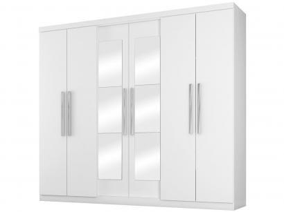 Guarda-roupa Casal 6 Portas 4 Gavetas Araplac - Bello com Espelho