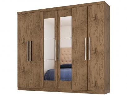 Guarda-roupa Casal 6 Portas 4 Gavetas - Araplac Bello com Espelho