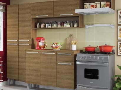 Cozinha Compacta Madesa City com Balcão - 9 Portas 1 Gaveta