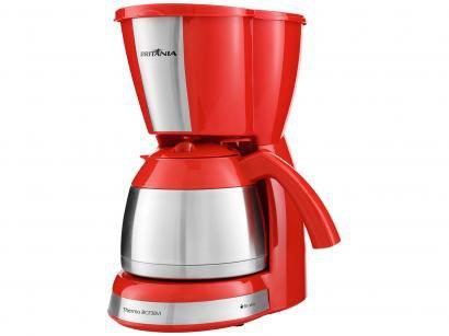 Cafeteira Elétrica Britânia Thermo BCF38VI - 38 Xícaras Inox Vermelha