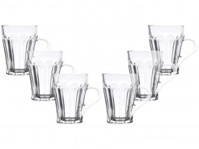 Caneca para Chá de Vidro Transparente - 140ml Bon Gourmet Allure 6 Peças