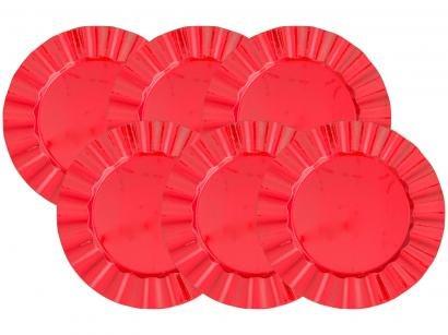 Sousplat Plástico Redondo Bon Gourmet Cook 30295 - 30295 6 Peças