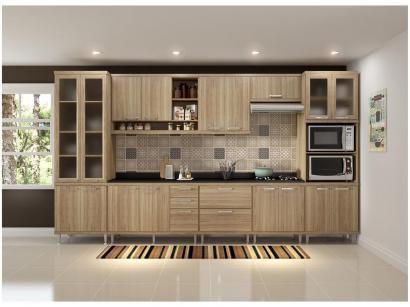 Cozinha Completa Multimóveis Sicília 58071321328 - com Balcão Nicho para Forno...