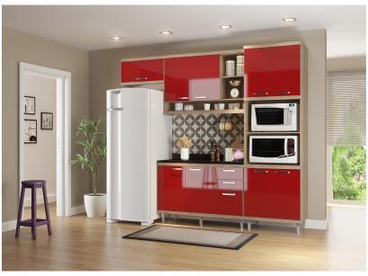 Cozinha Completa Multimóveis Sicília 58291326946 - com Balcão Nicho para Forno...