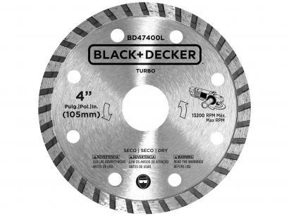 """Disco de Corte Diamantado 4"""" Black&Decker - BD47401L"""