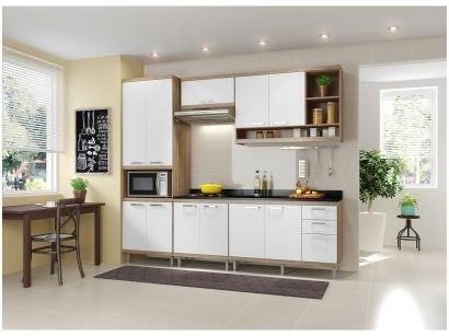 Cozinha Compacta Multimóveis Sicília 5809 - com Balcão Nicho para Micro-ondas...