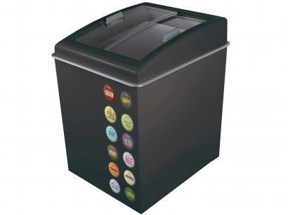 Freezer Horizontal 2 Tampas de Vidro Ártico - 100L Temática CA150T Black Beer 90221804