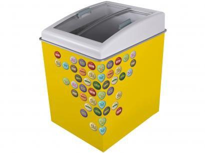 Freezer Horizontal 2 Tampas de Vidro Ártico - 100L Temática CA150T Yellow Beer...