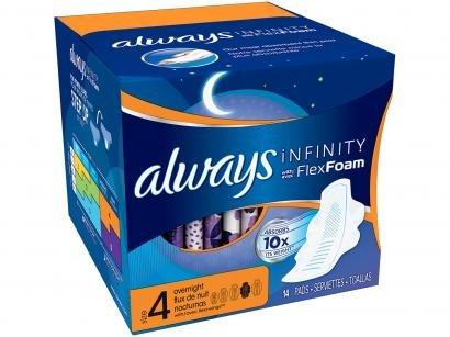 Absorvente Noturno Always Infinity com Abas - 14 Unidades