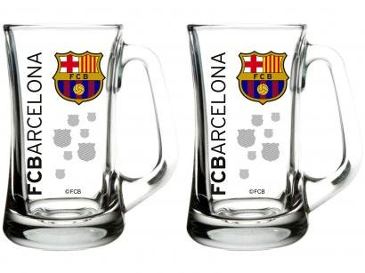 Caneca de Chopp Vidro 355ml Globimport - FC Barcelona Scandinávia Decorado 2...