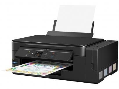 Impressora Multifuncional Epson EcoTank L495 - Tanque de Tinta Colorida LCD...
