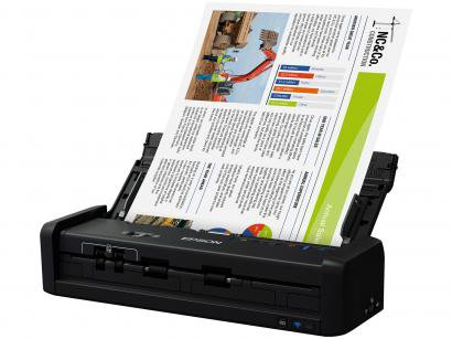 Scanner Portátil Epson WorkForce ES-300W Colorido - Wireless 600dpi Alimentador...