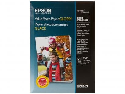 Papel Fotográfico Epson Value Photo Paper Glossy - 20 Folhas