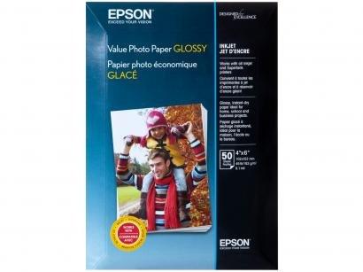 Papel Fotográfico 10x15cm Epson 183g - Value Photo Paper Glossy 50 Folhas