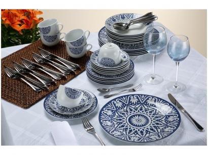 Aparelho De Jantar Chá 30 Peças Casambiente Porcelana Redondo