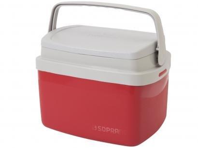 Caixa Térmica Soprano 5L Tropical - Vermelha
