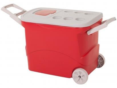 Caixa Térmica Soprano 50L com Rodas Tropical - Vermelha