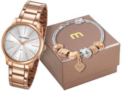 66fdc02cd27 Relógio Feminino Mondaine Analógico - 53739LPMGRE2K com Pulseira ...