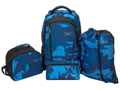 "Kit Mochila para Notebook 15,6"" Targus Kit Camo - BUS89102 Azul Camuflado 4..."