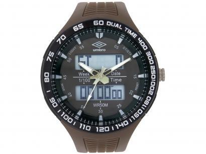 Relógio Unissex Umbro Anadigi - UMB-04-8 Marrom