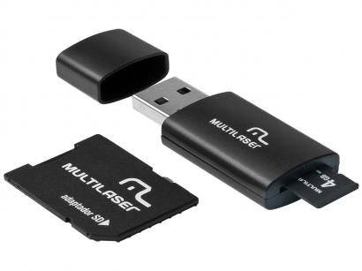 Cartão de Memória 4GB SD Multilaser Classe 4 - com Adaptador MC057