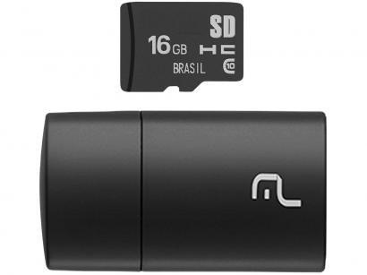 Cartão de Memória 16GB Micro SD Multilaser - Classe 10 MC162
