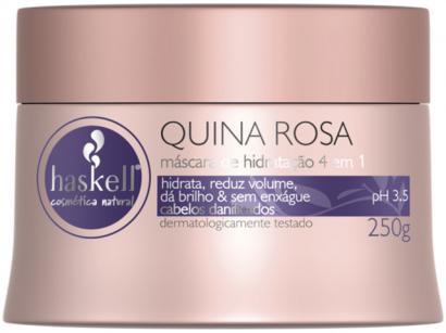 Máscara para Cabelo Haskell Quina Rosa - Hidrata, Reduz Volume, Dá Brilho 250g