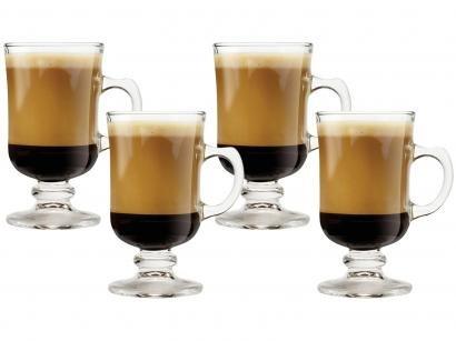 Caneca de Vidro de Café 120ml Crisa México - Mini Bill 4 Peças