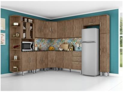 Cozinha Completa Poliman Móveis Suíça com Balcão - Nicho para Forno/Micro-ondas...