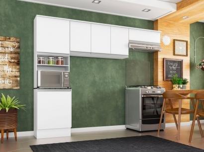 Cozinha Compacta Poliman Paris - Nicho para Micro-ondas 6 Portas