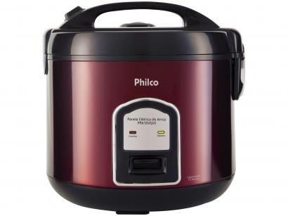 Panela de Arroz Elétrica Philco Inox Red - Collection PPA10VGVI 700W 10 Xícaras...
