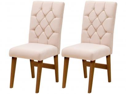 Cadeira para Sala de Jantar Estofada 2 Peças - Dobuê Movelaria Istambul