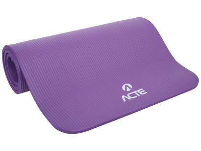 Tapete para Yoga/Pilates Borracha NBR 1 Peça - Acte Sports T54-RX
