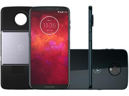 Smartphone Motorola Moto Z3 Projector Edition - 64GB Índigo Dual Chip 4G Câm...