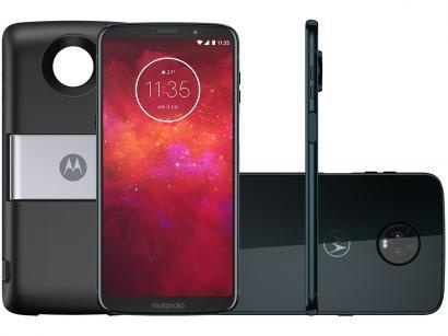 Smartphone Motorola Moto Z3 Play PowerPack & DTV - 64GB Índigo Dual Chip 4G...