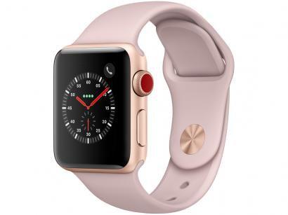 Apple Watch Series 3 GPS + Cellular 38mm Wi-Fi - Bluetooth Pulseira Esportiva...