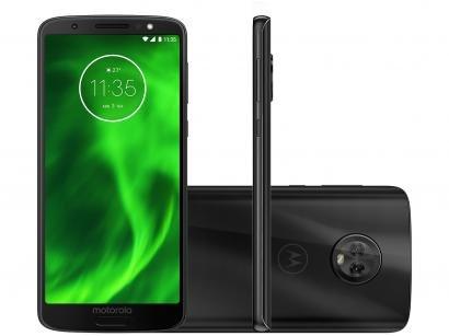Smartphone Motorola Moto G6 64GB Preto - Dual Chip 4G Câm. 12MP e 5MP + Selfie...