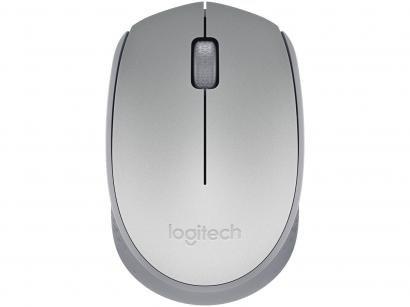 Mouse Sem Fio Sensor Óptico 1000dpi Logitech - M170